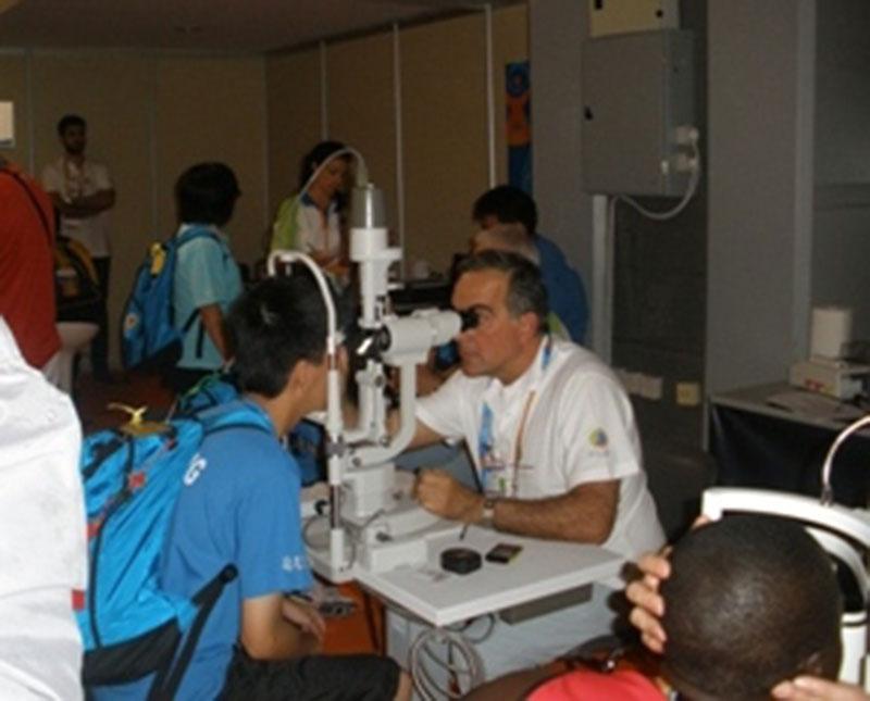 Vision Screening at Athens Special Olympics - Takagi Ophthalmic